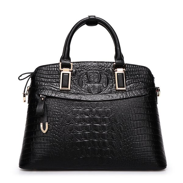 Wild2019 Fund Trend Crocodile Grain Genuine Leather Woman Handbag Diagonal Shell Package