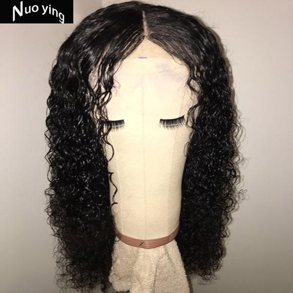 Tam 360 Dantel Frontal Peruk Hazırlanan Derin Bölüm 180% Brezilyalı Remy Dantel ön İnsan Saç Kapatma Peruk Siyah Kadınlar Için Su Dalga SDD68