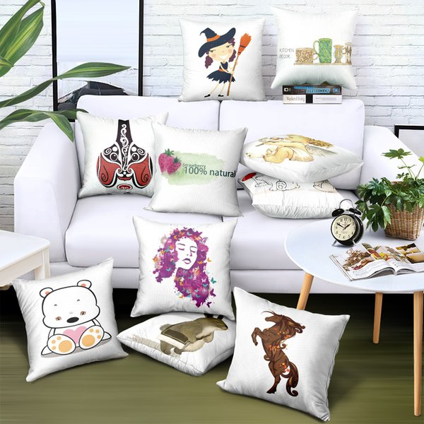 DHL Free Shipping Custom Pillowcase Creative Printing Pillow Cover Brand Advertising Gift Sofa Car Chair Seat Case Decorative Cushion Covers