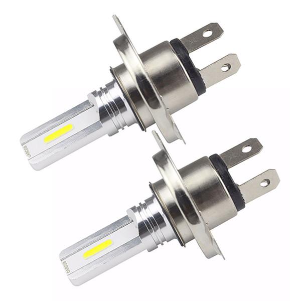 2pcs voiture Phares antibrouillard Cob H4 30W avec LED 6500K DC12V-24V Sélectionnez Turn Signal ampoule de la lampe