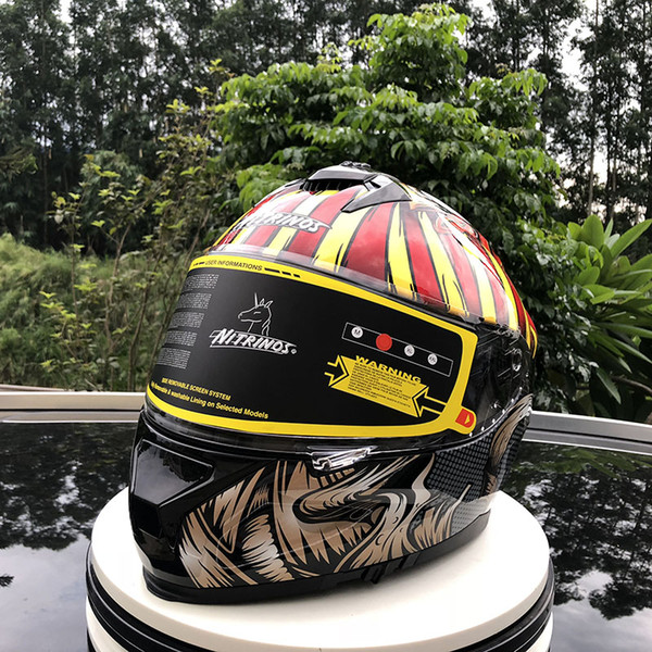 Safety Hat Men flip up double visor motorcycle helmet racing motorbike helmet internal sun visor shield modular women hat