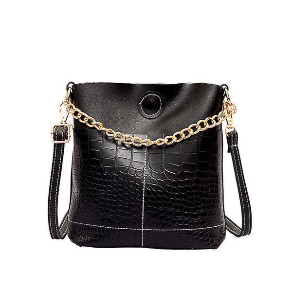 New Women Bag Fashion PU Leather Bucket Bag For Lady Tote Hobo Messenger Shoulder Crossbosy Handbag Travel Beach