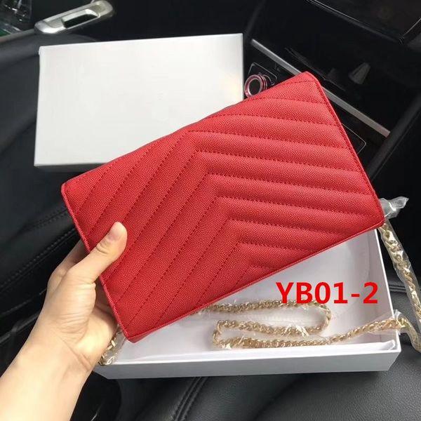 YB01-2 Caviar rojo Cadena dorada.