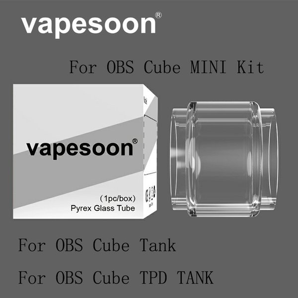 Authentic VapeSoon Replacement Bubble Glass Tube Suit For OBS CUBE TPD OBS CUBE MINI OBS Engine 2 RTA DHL Free