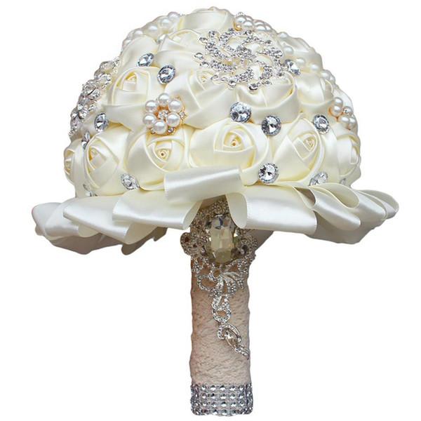Роза Кристалл Свадебный букет из бисера букет Свадебные аксессуары невесты Искусственные цветы Свадебные букеты