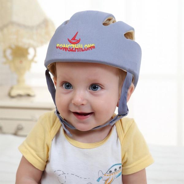 Защитный шлем для малышей, головные уборы для малышей, защитная шапочка для младенцев, мягкая кепка, регулируемая для ходьбы, бега на открытом воздухе, игры Q190521