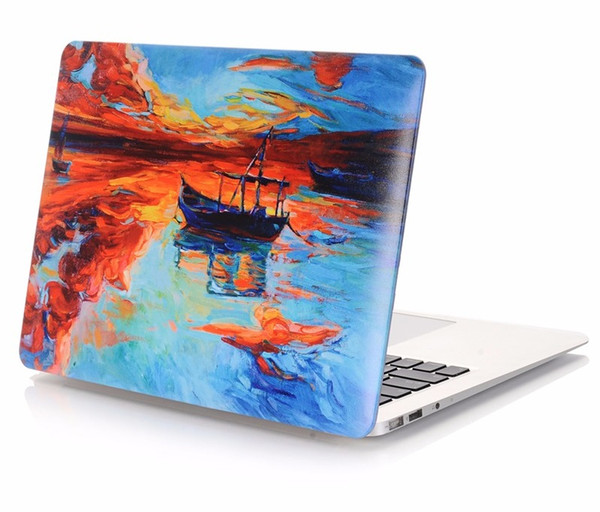 "Hot Sale High Quality Design Oil Painting Pattern for macbook air 13"" case for apple iphone"
