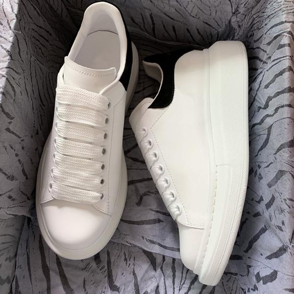 2020 alexander mcQueen tasarımcı ayakkabı erkekler kadınlar Chaussures Üçlü Beyaz Siyah 3 M Yansıtıcı Deri Süet erkek Düz Rahat Sneakers 36-44 vintage