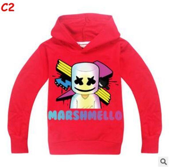 Kinder Designer Kleidung Jungen Tops Marshmello Kinder Langarm Hoodies T Shirt DJ Musik Kinder T-Shirts 2019 Große Jungen Mädchen Tops T-Shirt
