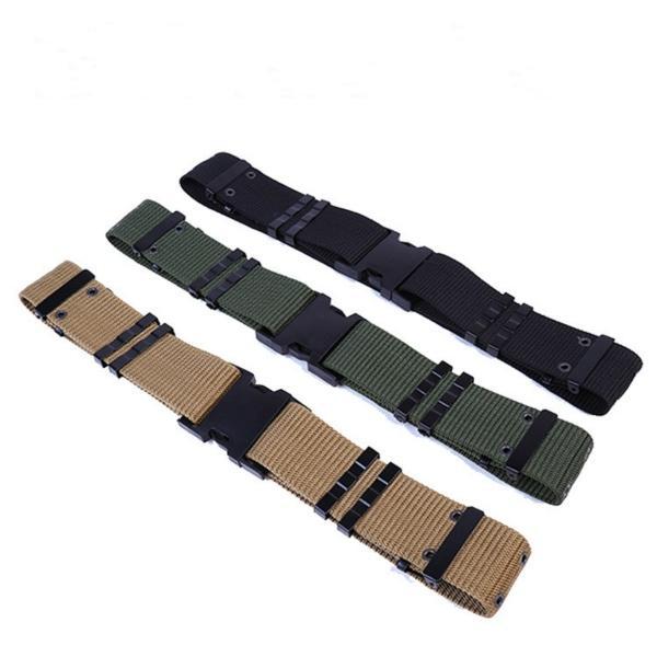 DOMAN Ejército Militar de Combate de Combate Militar Al Aire Libre Comando Cinturón de Comando Sencillo Táctico Cinturón de Lona de Nylon Supervivencia Cintura Soporte # 496011