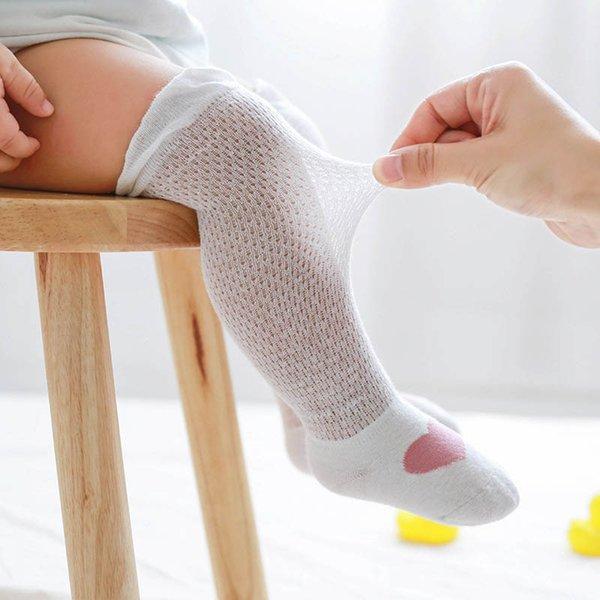 2019 nouveau coton chaussettes de bande dessinée mignon nouveau-né en tricot genou chaussettes hautes été bébé filles coton chaussette infantile meilleures chaussettes occasionnels enfants chaussette A4634
