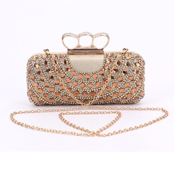 XIYUAN Fashion Mini Women Chain Clutches Evening Bags Luxury Diamond Lady Daily Clutch Party Wedding Bags Crystal Female
