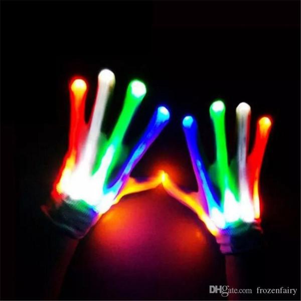 Led beleuchtung handschuhe blink cosplay neuheit handschuh led licht spielzeug artikel flash handschuhe für halloween weihnachtsfeier bb770-777 2018020907
