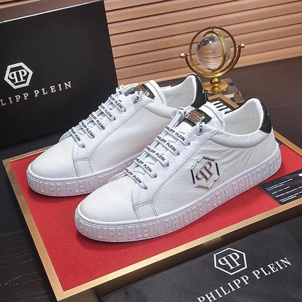 PhilipppleinPP Moda Uomo Scarpe di lusso traspirante Lo-Top Sneakers Zapatos de hombre vendita Scarpe uomo Modo Tipo Chaussures versare
