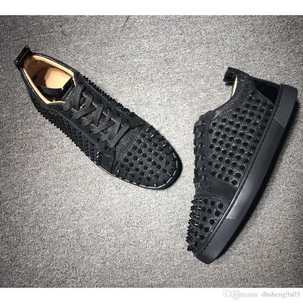 Low top vermelho fundo preto cor tênis para homens de couro de luxo moda casual mens sapatos das mulheres designer causal sapatos venda online