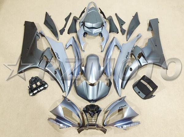 Nuevo molde de inyección ABS carenados de motocicleta aptos para YAMAHA YZF R6 2006 2007 YZF R6 06 07 kits de carenado de bicicleta de color gris mate