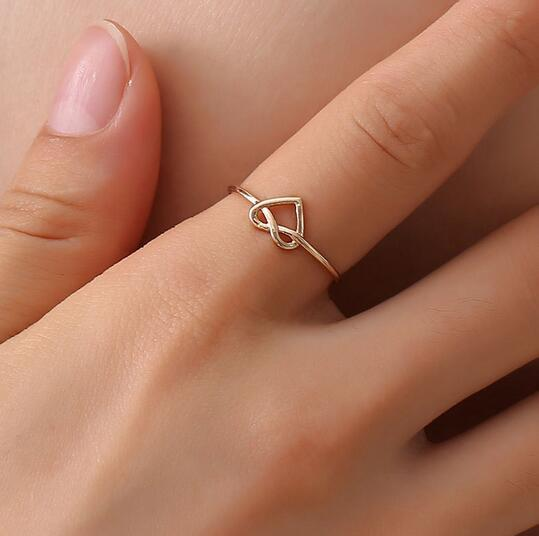 Fashion Rose Gold Rings For Women Opening Adjustable Hollow Heart Ring Engagement Jewelry Finger Rings For Female lady's gifts