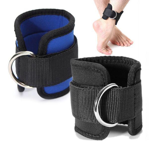 1Pc Cinturino alla caviglia Cinturino a D Regolabile Coscia Gamba Puleggia Palestra Sollevamento pesi Cavo multiuso Protezione per il fitness