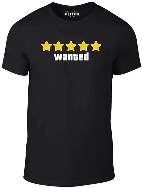 Men's Wanted T-shirt - Gift Present Game Books Grand Birthday Auto Xbox Theft Cool Casual Pride T Shirt Men Unisex New