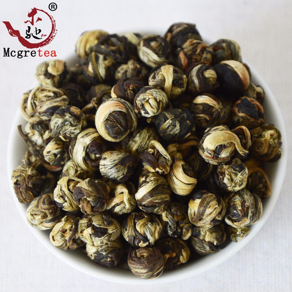 best selling [mcgretea]2020 Promotion ! 250g superior Jasmine Flower Tea Premium Jasmine Dragon Pearl Tea Health Care Green Wholesale Chinese Tea