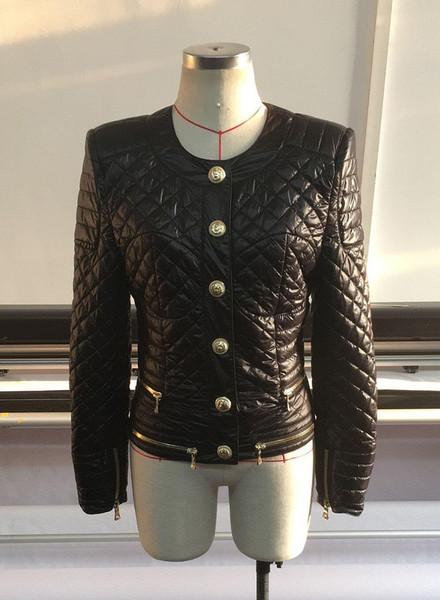 Новый с меткой Tag Brand B Высокое качество оригинальный дизайн женская голова льва металлическая пряжка куртка легкая хлопковая куртка ватник