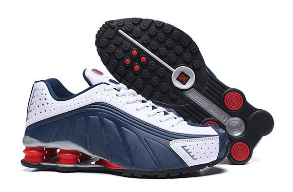 Hight Quality Shox Avenue Sports Running Shoes For Men Black White Shox Deliver NZ R4 Mens Runner Sneakers Red Man Trainers Tennis Shoes