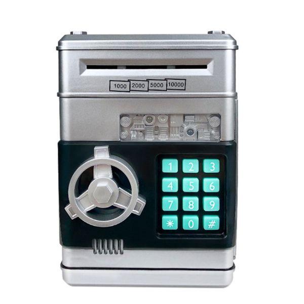 Elektronik Kumbara ATM Şifre Kumbara Nakit paralar Tasarruf Kutusu ATM Banka Kasa Otomatik Mevduat Banknot Noel Hediyesi