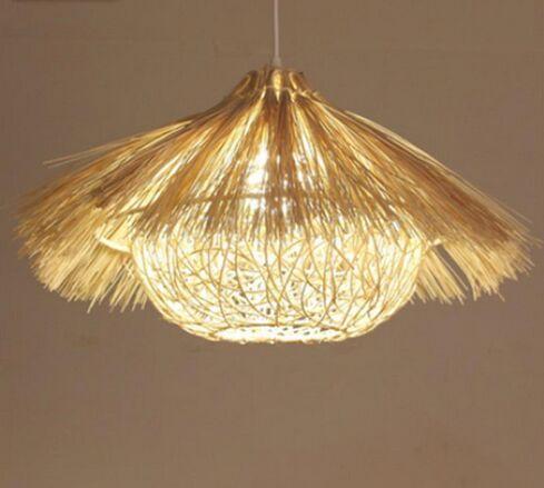 Araña de ratán Bamboo Nest House Lamp Bar Restaurante Balcón Lámpara de vino del sudeste MYY