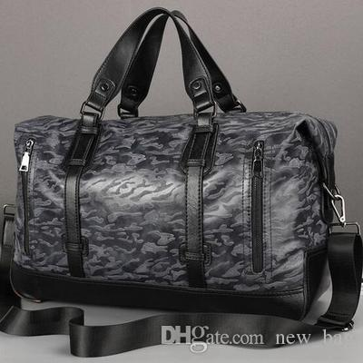 Manufacturers selling brand new fashion leisure men leather bag luggage waterproof wear trend of large capacity of men travel bag handbag