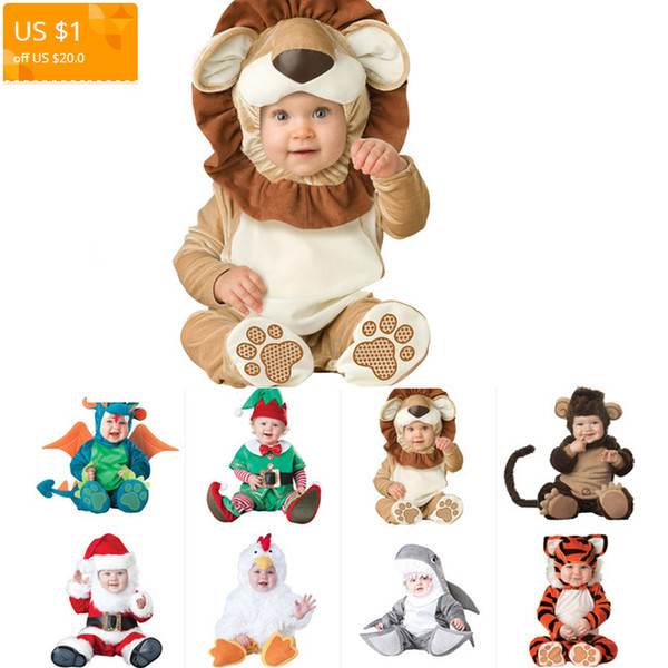 2019 Hot Sale Carnival Christmas Xmas Navidad Halloween Costume Infant Baby Girls Lion Rompers Cosplay Newborn Toddlers Clothes Q190518 From Yiwang09