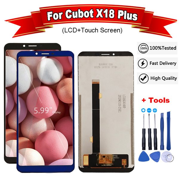 For Cubot X18 Plus LCD Display and Touch Screen With Frame Assembly Replacement With Tools For Cubot X18 Plus