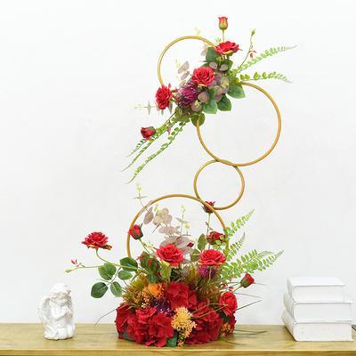 Uma variedade de estilos pode ser selecionado rose bell flor festa de casamento casa adereços estrada conduzir flor simulação de seda decoração do casamento de flores