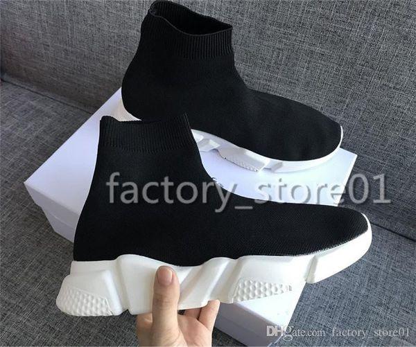 2019 Femmes Hommes Designer Sneakers Vitesse Trainer Noir Rouge Gypsophila Triple Noir De Mode Chaussette Botte Bottes Casual Chaussures Vitesse Trainer