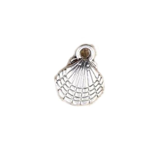 Encantos Shell 13x10MM antigo Fazendo Pendant caber prata tibetana Vintage DIY Brinco Colar Pulseira Tornozeleira Jóias