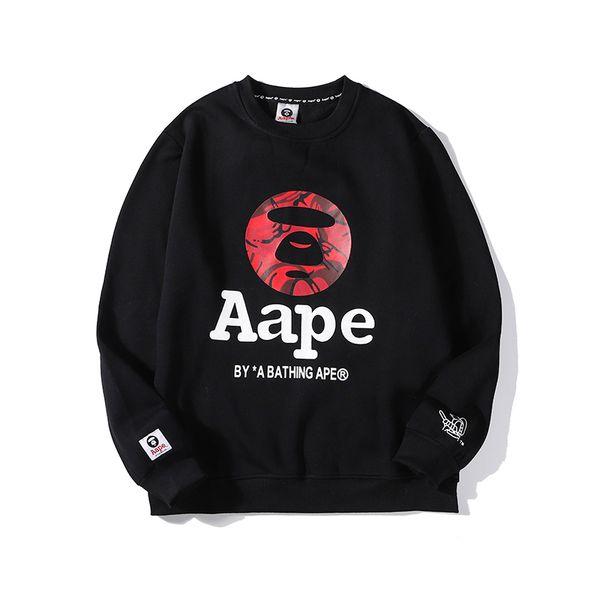 Winter Mens Women Sweatshirts Thick Monkey Cashmere Long Sleeve Fleece Hoodie O Neck Pullover Luxury Sweater Street Fashion Hiphop B103562L