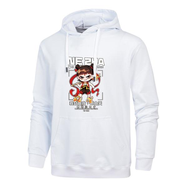 2019 Marca del diseñador del Mens la camiseta ocasional de la manera Pequeño héroe Nezha forman la blusa de alta calidad de impresión con capucha M-4XL B100134Q