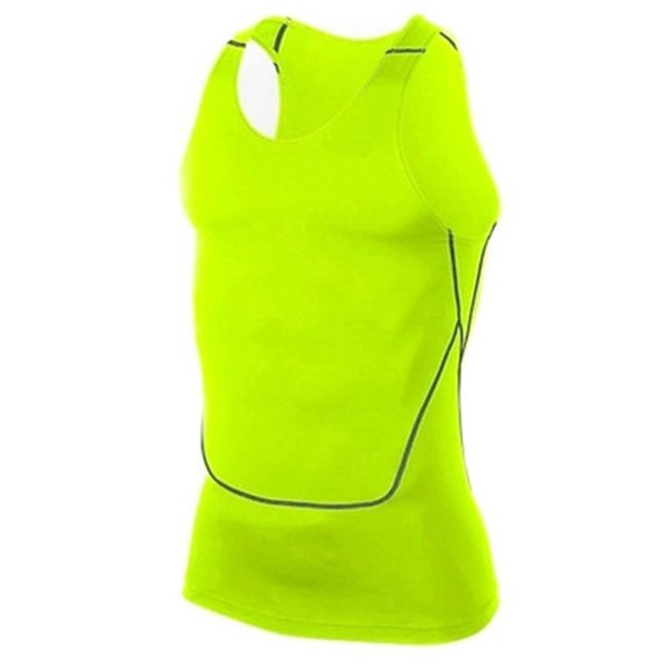 Men Sport Gym Vest Sleeveless Quick Drying Compression Tight Tank Tops DX88