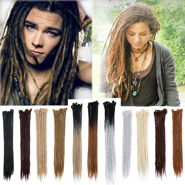 Hot ! 5pcs 20inch Handmade Dreadlocks Extensions Reggae Hip-Hop Style Synthetic Dreads Crochet Braiding Hair For Fashion Women