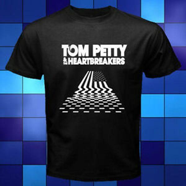 TOM PETTY THE HEARTBREAKERS Логотип тура RoCustom Band BlaSСоборная футболка размера от S до 3XL