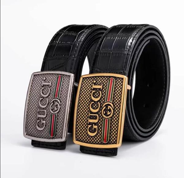 Moda masculina cintos de luxo crocodilo fivela automática cintos de couro genuíno para homens marca designer de couro de alta qualidade frete grátis