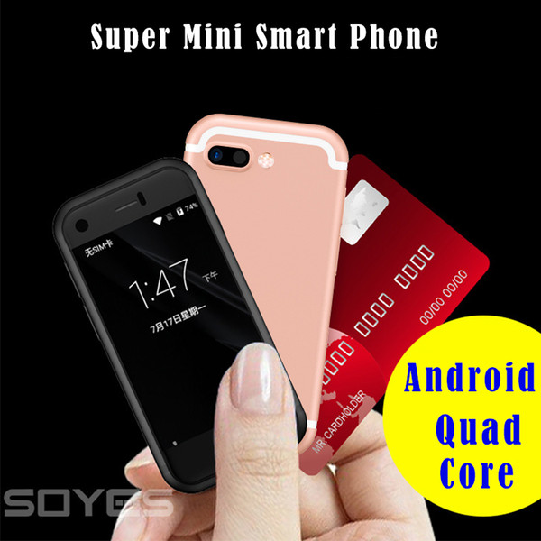 Original SOYES 7S 6s Mini Android Smart mobile Phone MTK6580 Quad Core 5.0MP Dual SIM Dual standby Unlocked Pocket MP4 Cell Phone