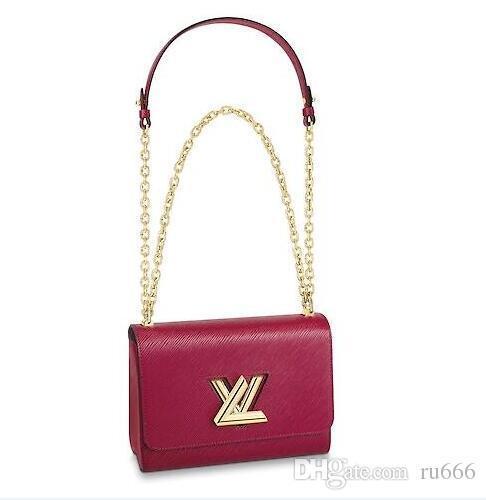 2019 Marke Mode Luxus Designer Crossbody Handtaschen DHL Taschen Epi Echtes Leder Alle Denim Handtasche Umhängetasche TWIST MM Dark Navy