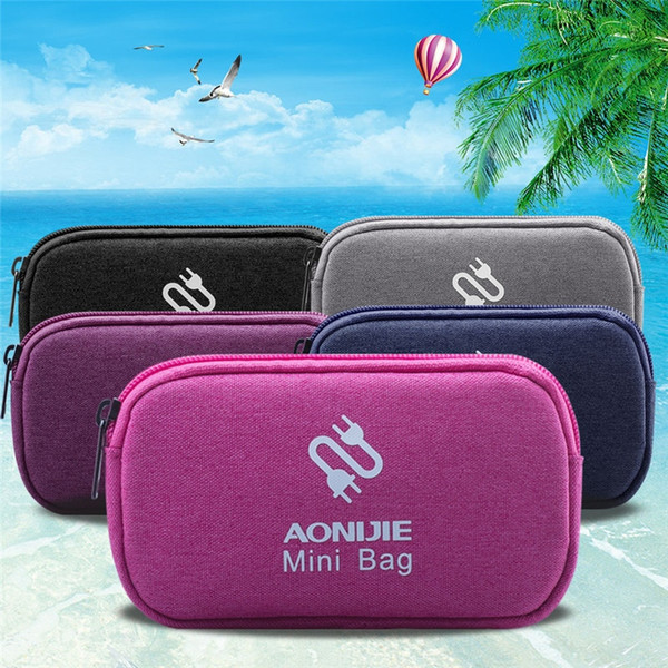 Waterproof Outdoor Travel Storage Accessories Bag Data Line Data Cable Mobile Hard Drive Charger U Disk Headset Storage Box #28958