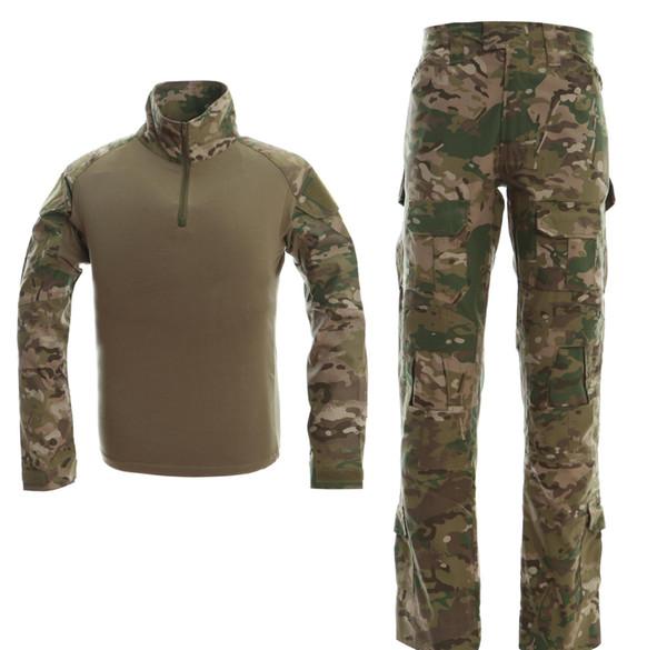 Военный Camo Frogman Tactical костюм Marines Камуфляж Тактический Frog Одежда форменная Мужчины Женщины С Защитное снаряжение CB9F1