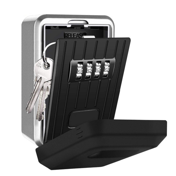 Wall Mounted Key Storage Organizer Boxes with 4 Digit Combination Lock Spare alloy house cards Key Box Metal Secret Safety Box