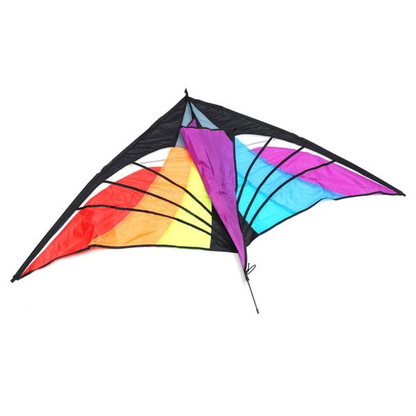 160x90cm Triangolo Rainbow Aquilone Kids Outdoor Travel Camping Flying Aquiloni Toy Kits Sky Surf Puntelli Famiglia Relax Fun Game Gifts