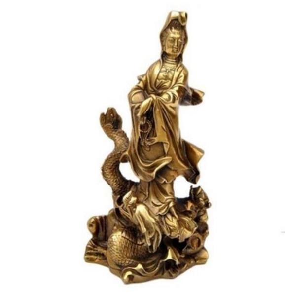 NEW +++ Avalokiteshvara copper ornaments back dragon talisman Home Furnishing Feng Shui
