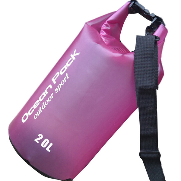 20L PVC Waterproof Dry Bag Outdoor Sport Swimming Rafting Kayaking Sailing Bag Outdoor waterproof #2f19