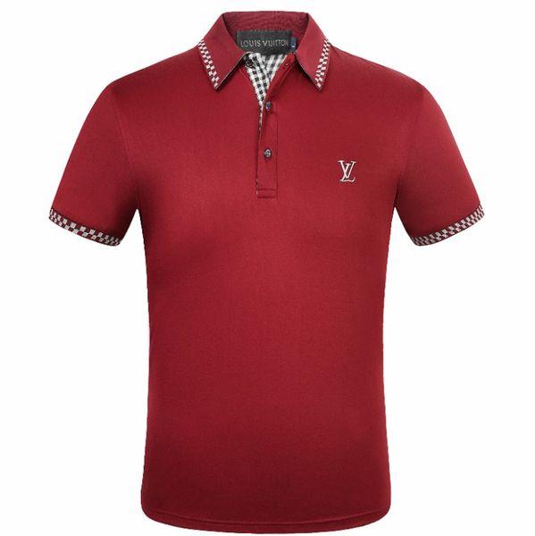 Hot Mens Designer Polo Shirts Mode Hommes T-shirt Broderie À Manches Courtes Polo Marque De Base Top Bureau D'affaires Tees M-3XL