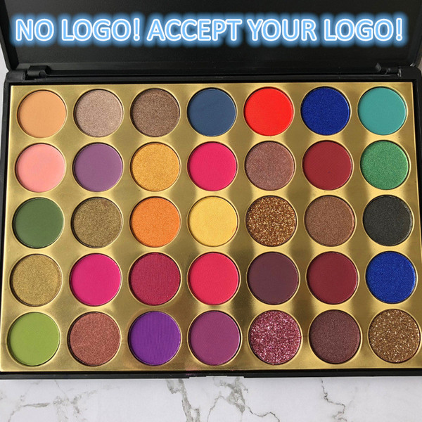 no logo50pcs to print logo 35 colors eye shadow palette matte and shimmer eyeshadow eye cosmetics makeup tool accept your logo